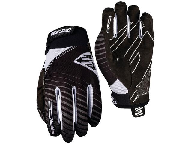 FIVE Race Gloves black/white